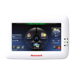 The Honeywell Tuxedo Touch smart home security system keypad